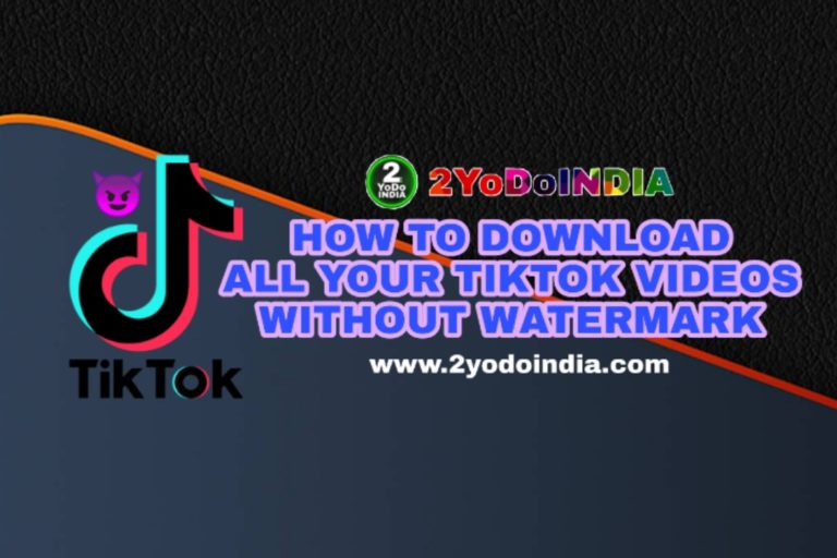 How to Download All Your Videos from the App After TikTok Banned   Without Watermark   2YODOINDIA   BLOG BY RAHUL RAM DWIVEDI   RRD