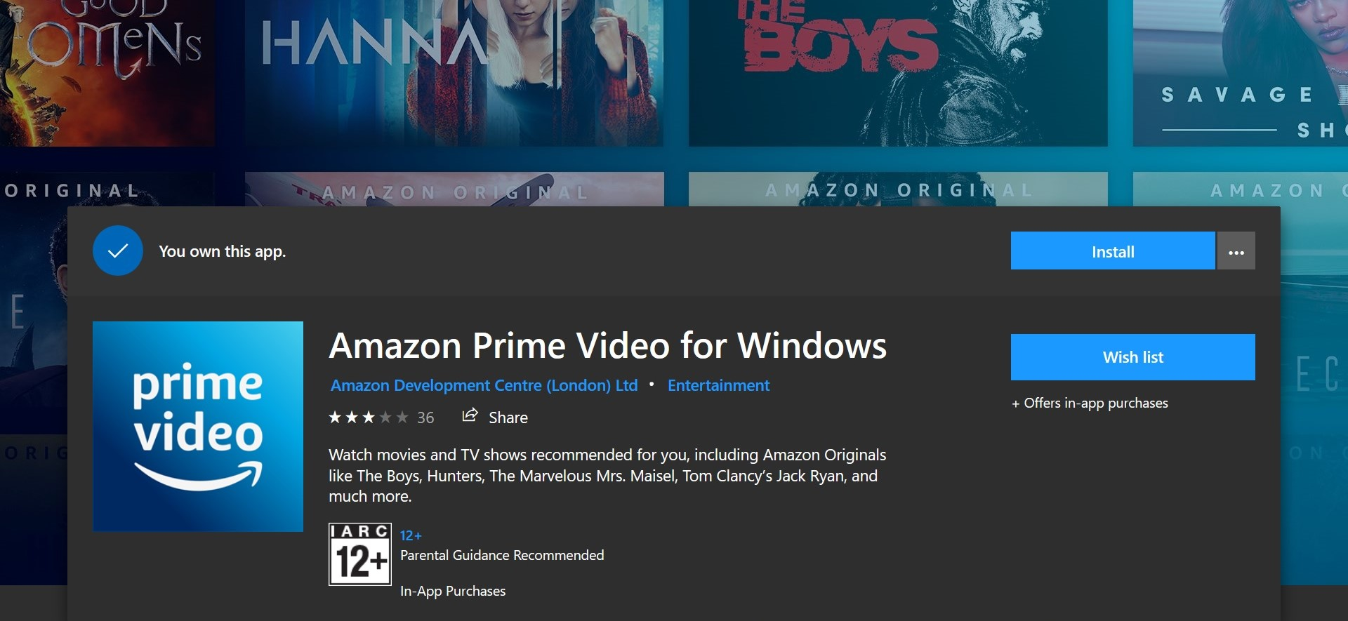 Amazon Video Windows App