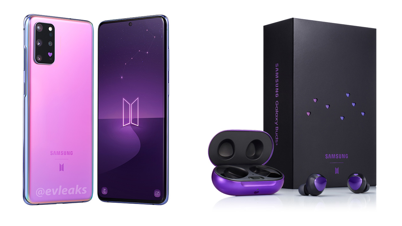 Samsung Galaxy S20+ | Samsung Galaxy Buds+ BTS Edition Models Launched in India | 2YODOINDIA ...