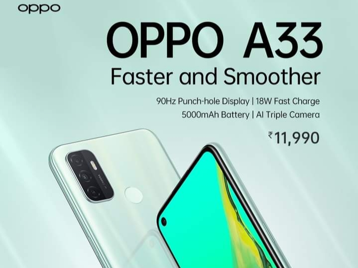 Oppo A33 (2020) Launched in India   Price in india   Specifications   features   2YODOINDIA   BLOG BY RAHUL RAM DWIVEDI   RRD