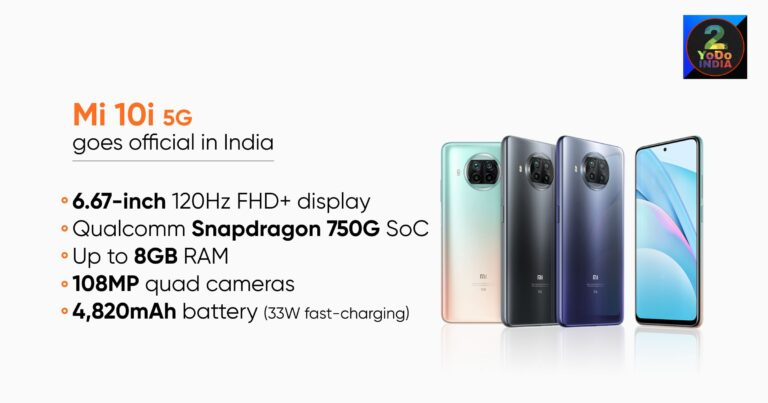 Mi 10i Launched in India | Price in India| Specifications | Features | 2YODOINDIA | BLOG BY RAHUL RAM DWIVEDI | RRD