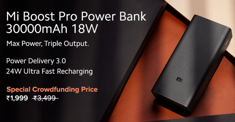 Mi Boost Pro Power Bank 30,000mAh Capacity Announced in India   Price in India   Specifications   2YODOINDIA