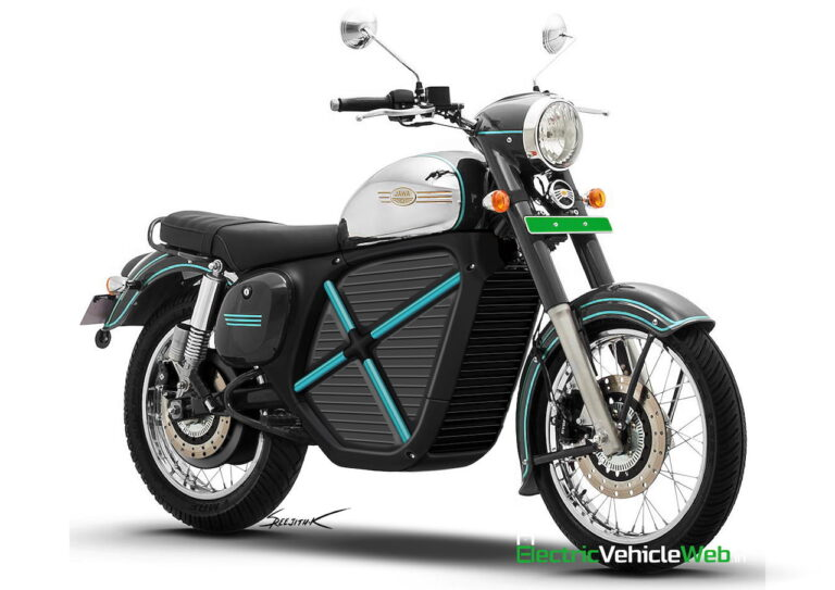 Jawa Electric Motorcycle Rendered shows Highlight Design may Launch in 2022 | 2YODOINDIA