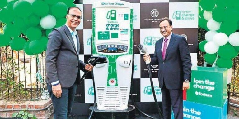 MG Motor India and Fortum Installs 50 kW Superfast EV Charging Station   2YODOINDIA