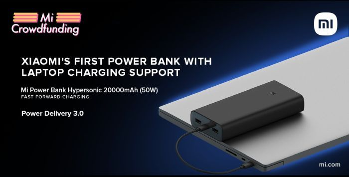 Mi HyperSonic Power Bank 50W Fast Charging & 20,000mAh Launched in India | Price in India | Specifications | 2YODOINDIA