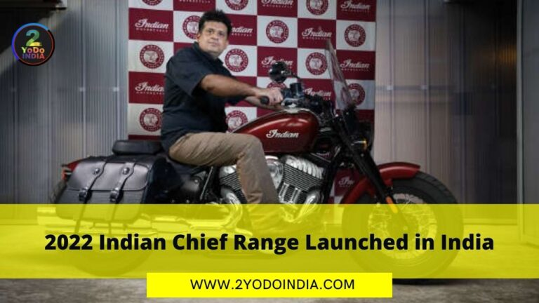 2022 Indian Chief Range Launched in India | Price in India | Specifications | 2YODOINDIA