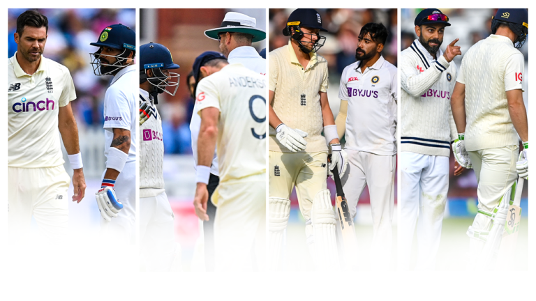 A History of Cricket and verbals   James Anderson vs India   Jadeja Tunnel Incident, Trent Bridge, 2014   Don't Talk About Our Captain, Mumbai, 2016   How Did you bounce me? Lord's, 2021   2YODOINDIA