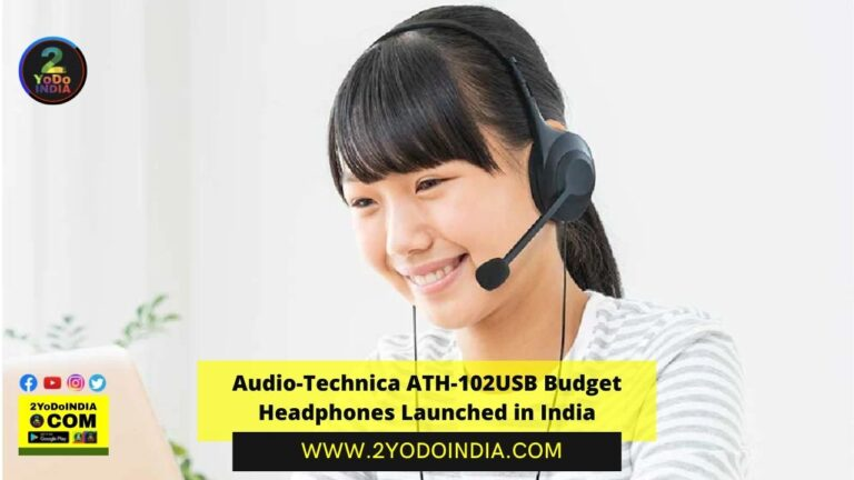 Audio-Technica ATH-102USB Budget Headphones Launched in India | Price in India | Specifications | 2YODOINDIA