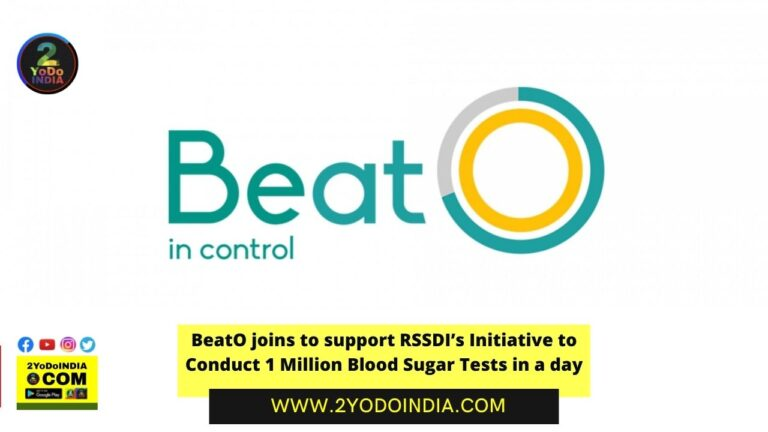 BeatO joins to support RSSDI's Initiative to Conduct 1 Million Blood Sugar Tests in a day | 2YODOINDIA