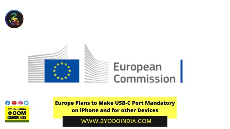 Europe Plans to Make USB-C Port Mandatory on iPhone and for other Devices | 2YODOINDIA