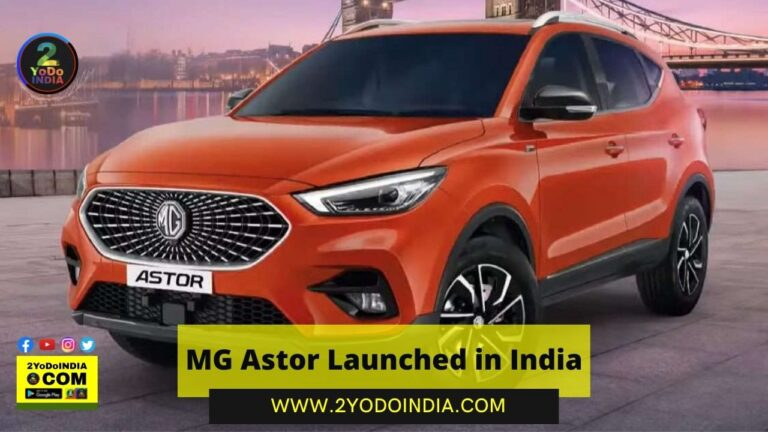 MG Astor Launched in India | Price in India | Mechanical Specifications | 2YODOINDIA