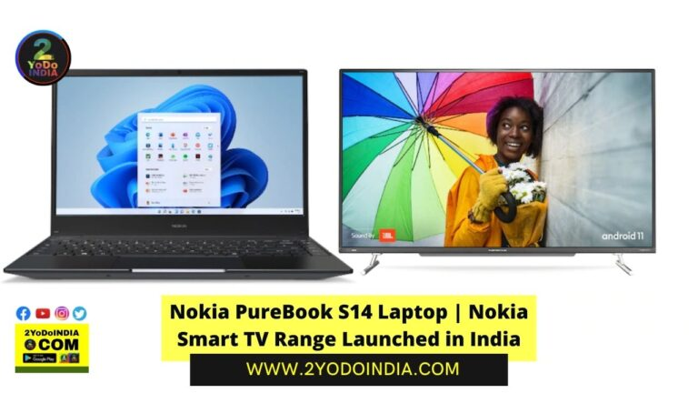 Nokia PureBook S14 Laptop   Nokia Smart TV Range Launched in India   Price in India   Specifications   2YODOINDIA