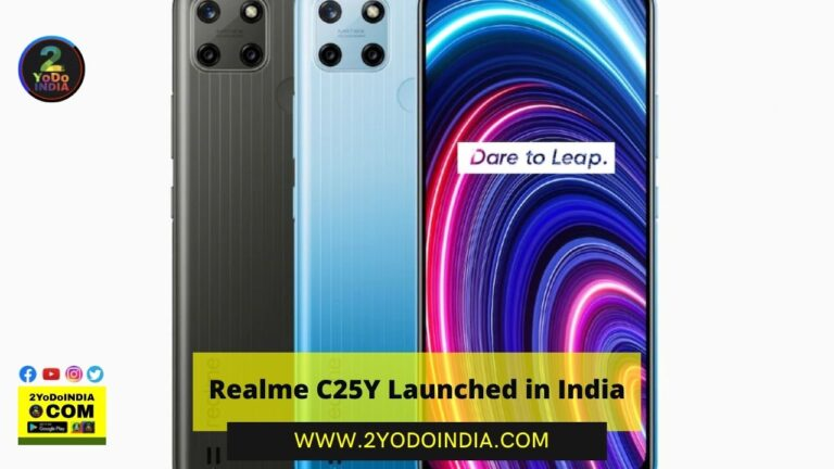 Realme C25Y Launched in India | Price in India | Specifications | 2YODOINDIA