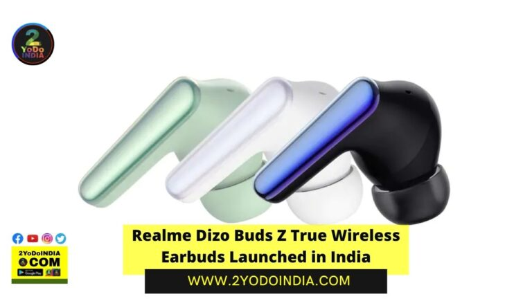 Realme Dizo Buds Z True Wireless Earbuds Launched in India | Price in India | Specifications | 2YODOINDIA