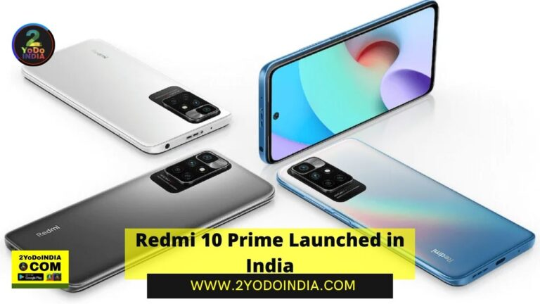 Redmi 10 Prime Launched in India | Price in India | Specifications | 2YODOINDIA