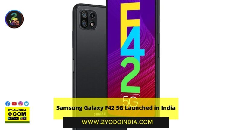 Samsung Galaxy F42 5G Launched in India   Price in India   Specifications   2YODOINDIA