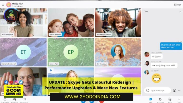 UPDATE : Skype Gets Colourful Redesign   Performance Upgrades & More New Features   2YODOINDIA