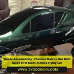 Vinata Aeromobility : Chennai Startup Has Built Asia's First Made-In-India Flying Car | About Vinata Aeromobility | Urban Air Mobility Vehicle | 2YODOINDIA