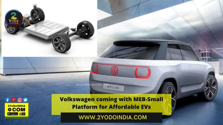 Volkswagen coming with MEB-Small Platform for Affordable EVs | Volkswagen MEB-Small | Coming Volkswagen Launches in India | 2YODOINDIA
