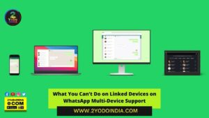What You Can't Do on Linked Devices on WhatsApp Multi-Device Support | 2YODOINDIA