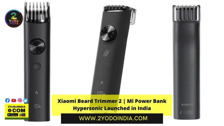Xiaomi Beard Trimmer 2   Mi Power Bank Hypersonic Launched in India   Price in India   Specifications   2YODOINDIA