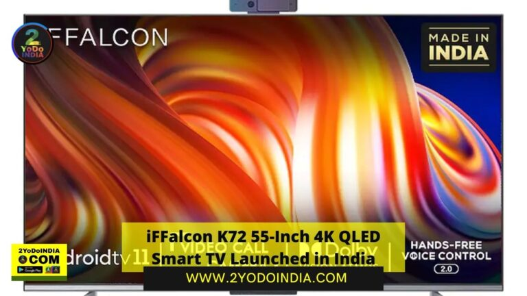 iFFalcon K72 55-Inch 4K QLED Smart TV Launched in India | Price in India | Specifications | 2YODOINDIA