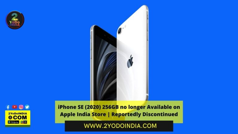 iPhone SE (2020) 256GB no longer Available on Apple India Store | Reportedly Discontinued | 2YODOINDIA