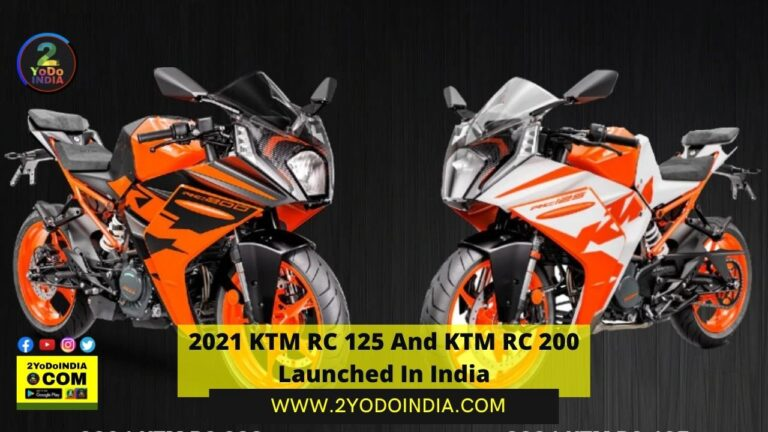 2021 KTM RC 125 And KTM RC 200 Launched In India | Price in India | Mechanical Specifications | 2YODOINDIA