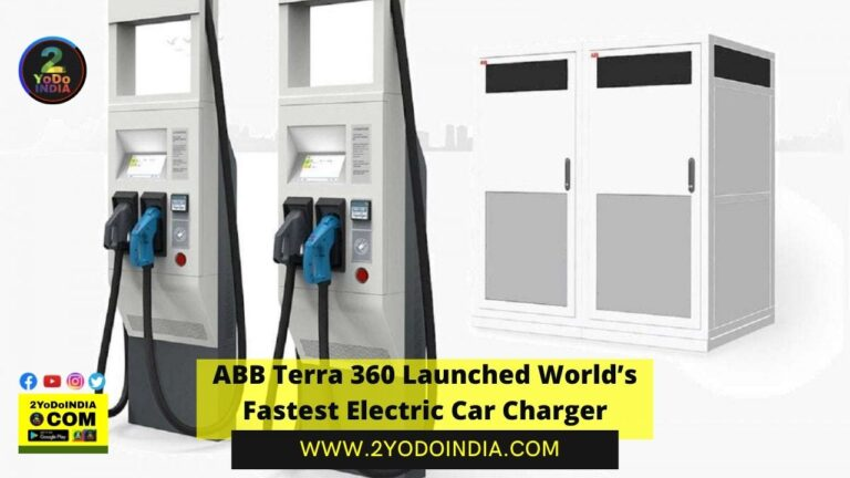 ABB Terra 360 Launched World's Fastest Electric Car Charger | 2YODOINDIA