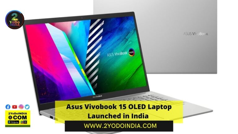 Asus Vivobook 15 OLED Laptop Launched in India | Price in India | Sale | Specifications | 2YODOINDIA