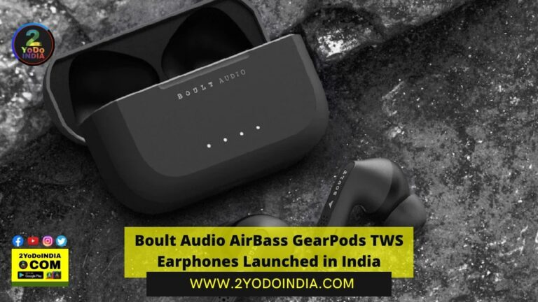 Boult Audio AirBass GearPods TWS Earphones Launched in India | Price in India | Specifications | 2YODOINDIA