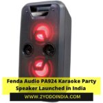 Fenda Audio PA924 Karaoke Party Speaker Launched in India | Price in India | Specifications | 2YODOINDIA