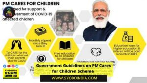 Government Guidelines on PM Cares for Children Scheme | 2YODOINDIA