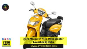 Hero Pleasure+ Xtec 110cc Scooter Launched in India   Price in India   Mechanical Specifications   2YODOINDIA