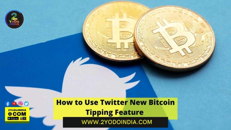 How to Use Twitter New Bitcoin Tipping Feature | How to Send Bitcoin Tips on Twitter | 2YODOINDIA