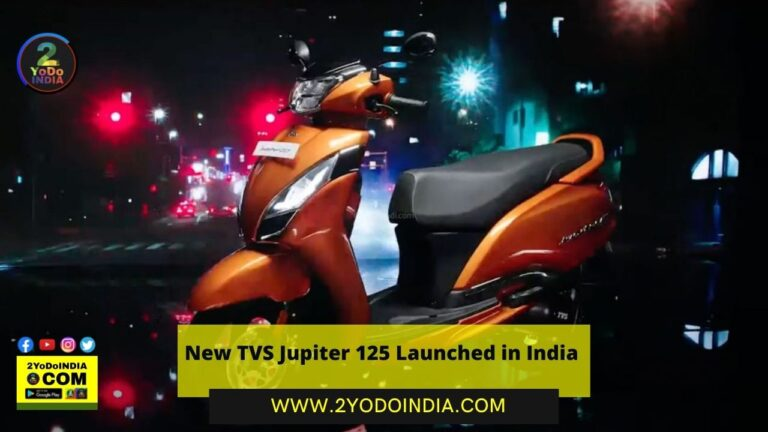New TVS Jupiter 125 Launched in India | Price in India | Mechanical Specifications | 2YODOINDIA