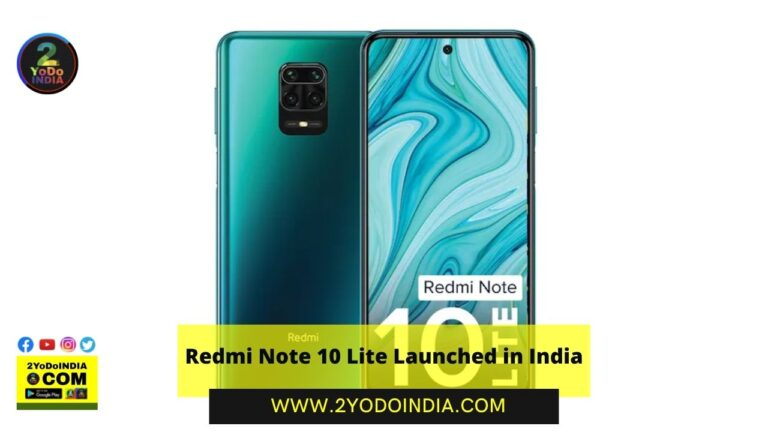 Redmi Note 10 Lite Launched in India | Price in India | Specifications | 2YODOINDIA