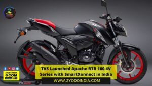 TVS Launched Apache RTR 160 4V Series with SmartXonnect in India | Price in India | Mechanical Specifications | 2YODOINDIA