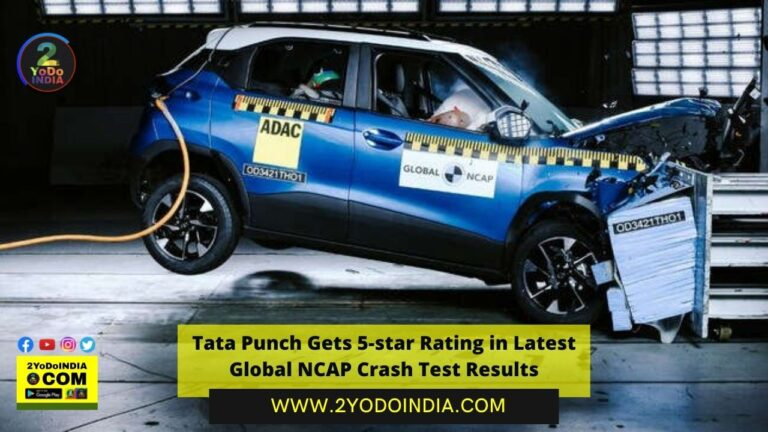 Tata Punch Gets 5-star Rating in Latest Global NCAP Crash Test Results | Tata Punch Latest Global NCAP Crash Test Results | 2YODOINDIA
