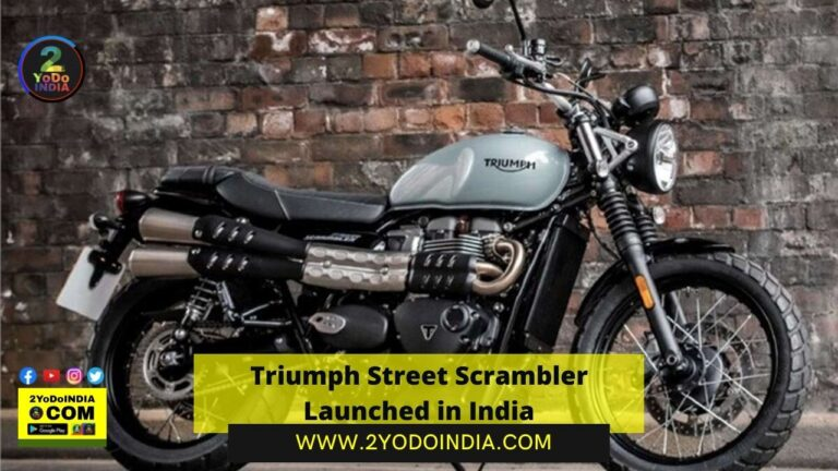 Triumph Street Scrambler Launched in India   Price in India   Mechanical Specifications   2YODOINDIA