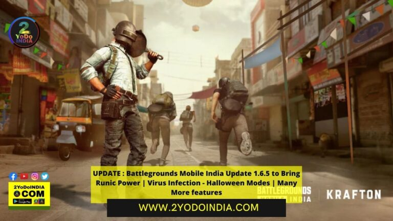 UPDATE : Battlegrounds Mobile India Update 1.6.5 to Bring Runic Power | Virus Infection - Halloween Modes | Many More features | 2YODOINDIA
