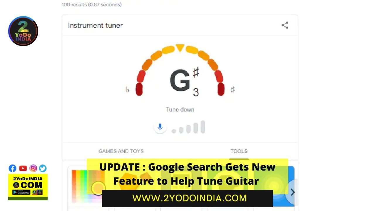 UPDATE : Google Search Gets New Feature to Help Tune Guitar | 2YODOINDIA