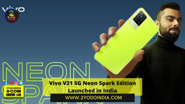 Vivo V21 5G Neon Spark Edition Launched in India | Price in India | Specifications | 2YODOINDIA